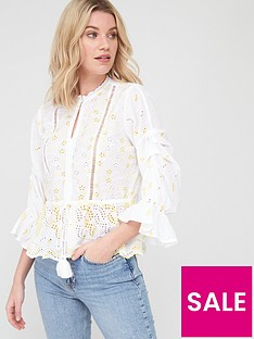 v-by-very-tie-waist-ladder-trim-broderie-blouse-whitenbsp