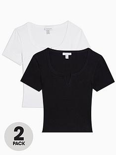 topshop-topshop-tall-2-pack-notch-t-shirts-multi