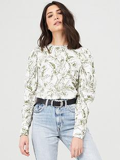 v-by-very-printed-puff-sleeve-shell-topnbspnbsp--whiteprint