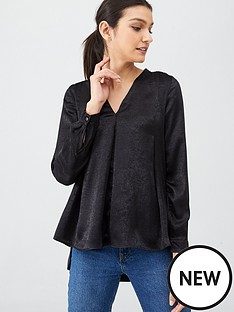 v-by-very-long-sleeve-notch-neck-black