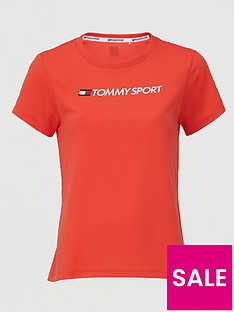 tommy-hilfiger-performance-chest-logo-top-coralnbsp