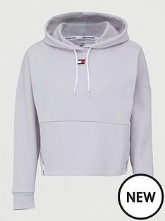 tommy-hilfiger-cropped-tape-fleece-hoodie-greynbsp
