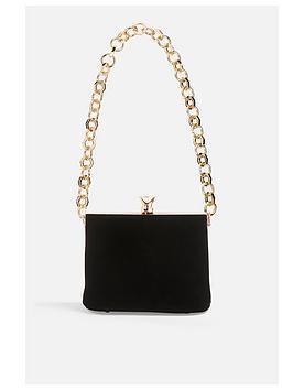 topshop-topshop-margot-velvet-chain-bag-black