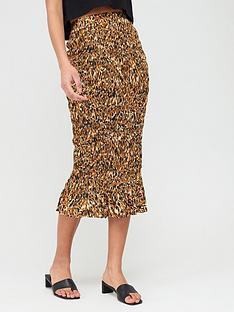 v-by-very-shirred-midi-skirt-animal-print