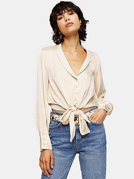 topshop-topshop-satin-knot-front-shirt-cream