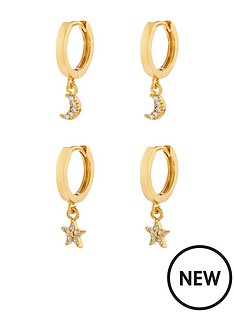 accessorize-z-2x-star-and-moon-huggie-charm-hoop-earrings-gold
