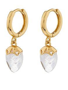 accessorize-healing-stone-huggie-hoop-earring-white