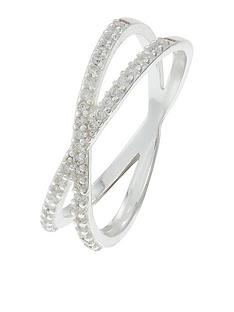accessorize-sterling-silvernbsppave-cross-ring-crystal