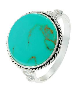 accessorize-sterling-statement-ring-turquoise
