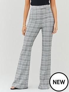 michelle-keegan-check-high-waist-tailored-trouser