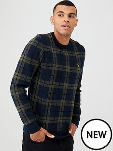 lyle-scott-check-knitted-jumper