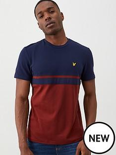 lyle-scott-panel-stripe-t-shirt