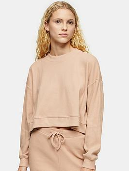 topshop-brushed-rib-pyjama-top-camel