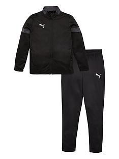 puma-junior-football-tracksuit-black