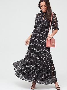 v-by-very-ladder-trim-tiered-maxi-dress-spot