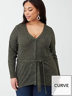 junarose-julina-belted-knit-cardigan-khaki