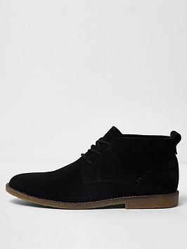river-island-black-suede-chukka-boots