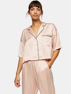 topshop-topshop-satin-pyjama-shirt-pink
