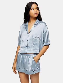 topshop-topshop-pyjama-shirt-blue