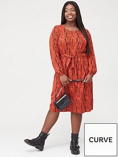 junarose-inra-tie-front-dress-redblack