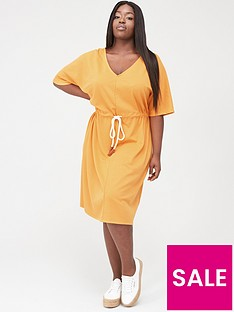 junarose-adora-cord-belt-midi-dress-apricot