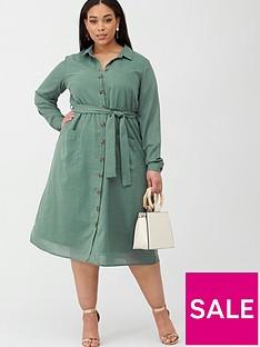 junarose-lyza-utility-shirt-dress-green