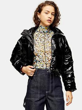 topshop-petite-vinyl-padded-jacket-black