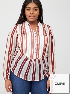 junarose-ebba-stripe-blouse-multi