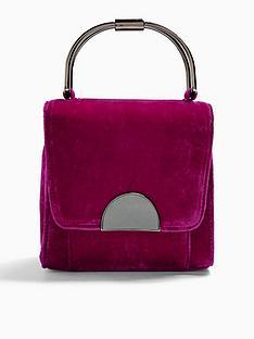 topshop-topshop-olivia-velvet-grab-bag-pink