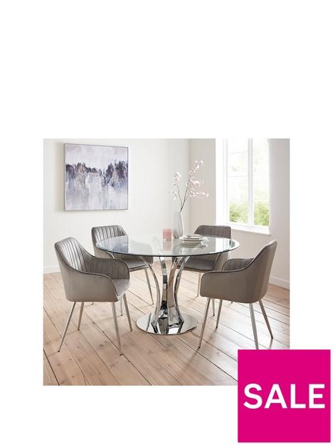 alice-glass-top-dining-table-4-alisha-chairs-chromegrey