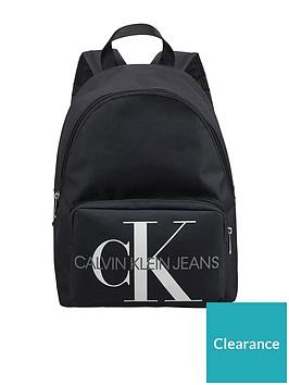 calvin-klein-jeans-childrens-monogram-campus-logo-backpack-black