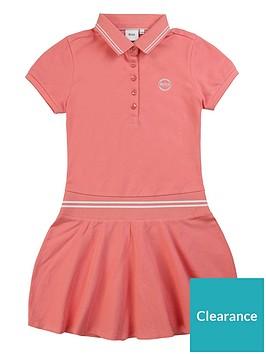 boss-girls-classic-pique-polo-dress-pink
