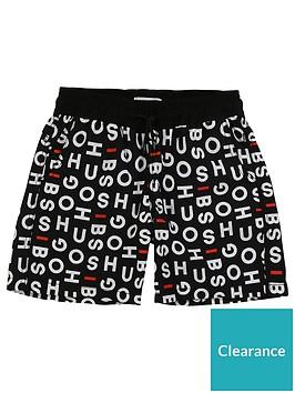 boss-boys-quick-dry-multi-logo-shorts-black