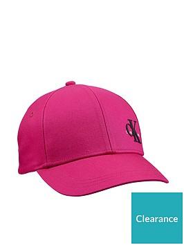 calvin-klein-jeans-childrens-monogram-baseball-cap-pink
