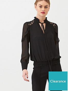 oasis-lace-trim-pussybow-blouse
