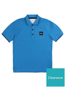 boss-boys-classic-short-sleeve-pique-badge-polo-turquoise