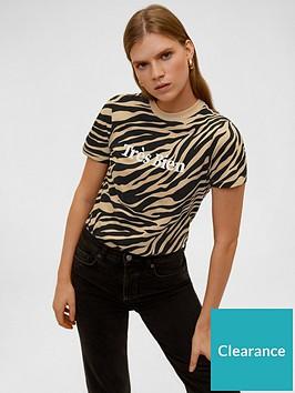 mango-tiger-print-slogan-tee-brown