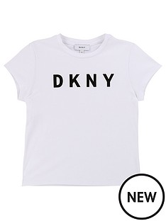 dkny-girls-short-sleeve-logo-t-shirt-white