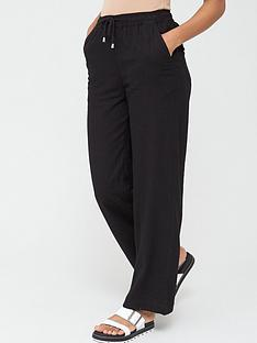 v-by-very-short-linen-mix-trouser-black