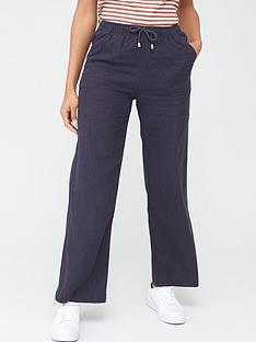 v-by-very-short-linen-mix-trouser-navy