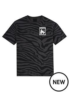 money-boys-short-sleeve-zebra-hallmark-t-shirt-black