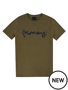 money-boys-short-sleeve-zebra-t-shirt-khaki