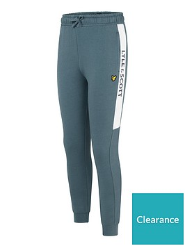 lyle-scott-boys-side-panel-cuffed-joggers-blue