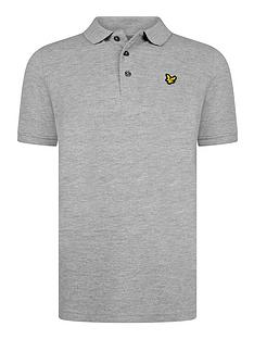 lyle-scott-boys-classic-short-sleeve-polo-shirt-grey