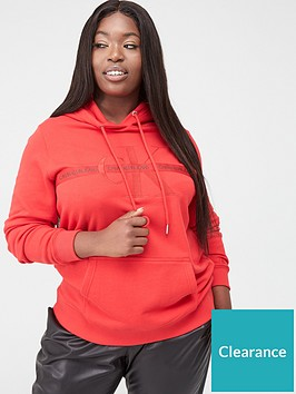calvin-klein-jeans-plus-monogram-hoodie-red