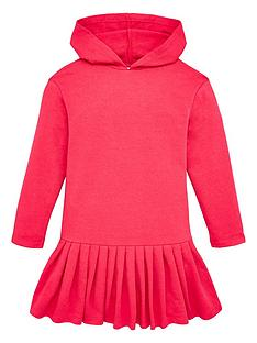 v-by-very-girls-drop-waist-frill-hem-hoodie-dress-pink