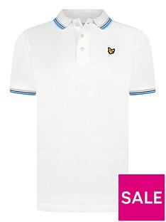 lyle-scott-boys-short-sleeve-tipped-polo-shirt-white