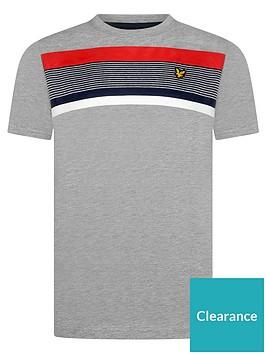 lyle-scott-boys-short-sleeve-centre-stripe-t-shirt-grey