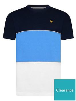lyle-scott-boys-wide-multi-stripe-t-shirt-blue