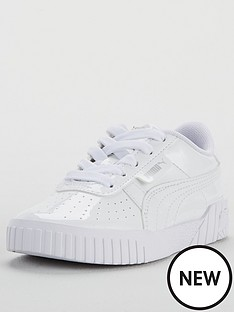 puma-cali-patent-childrens-trainers-white